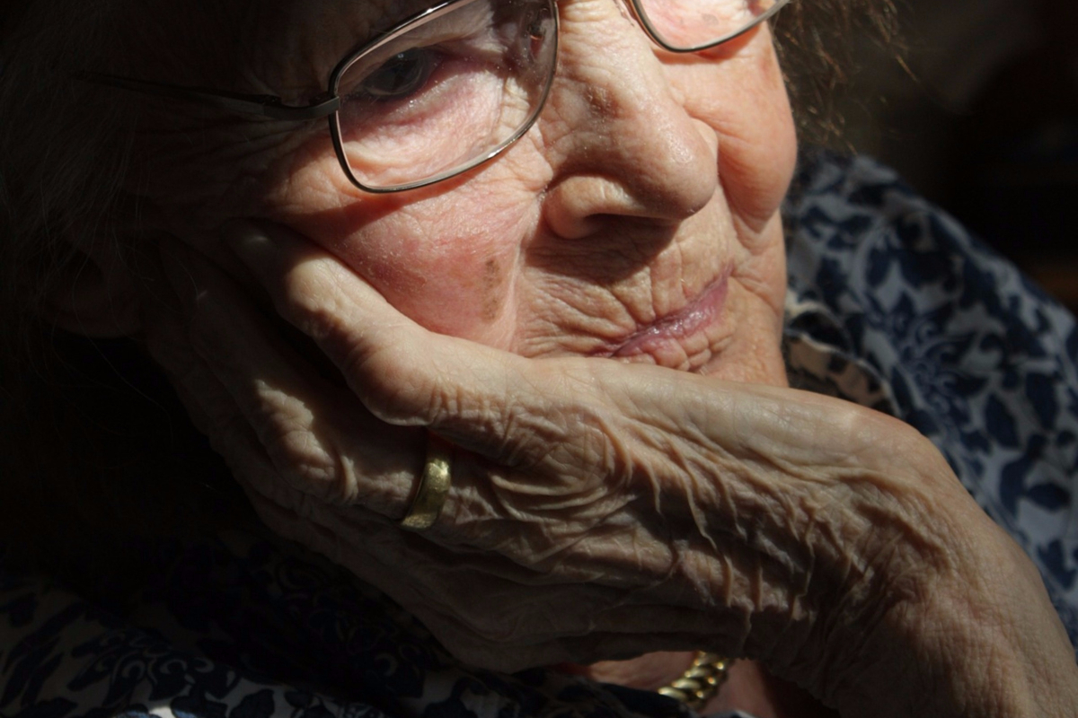 elderly woman face closeup