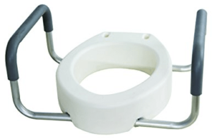 Essential Medical Supply Elevated Toilet Seat with Arms
