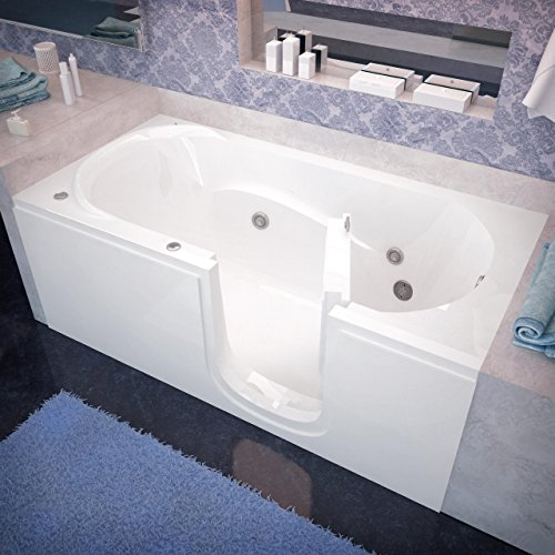 Spa World Venzi Rectangular Whirlpool Walk-In Bathtub