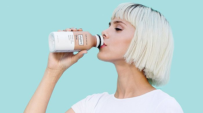 drinking Soylent Meal Replacement Drink