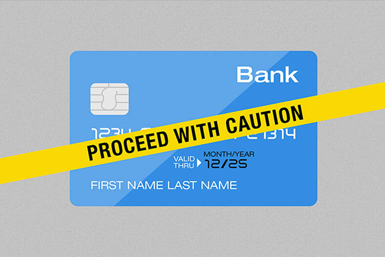 credit card caution